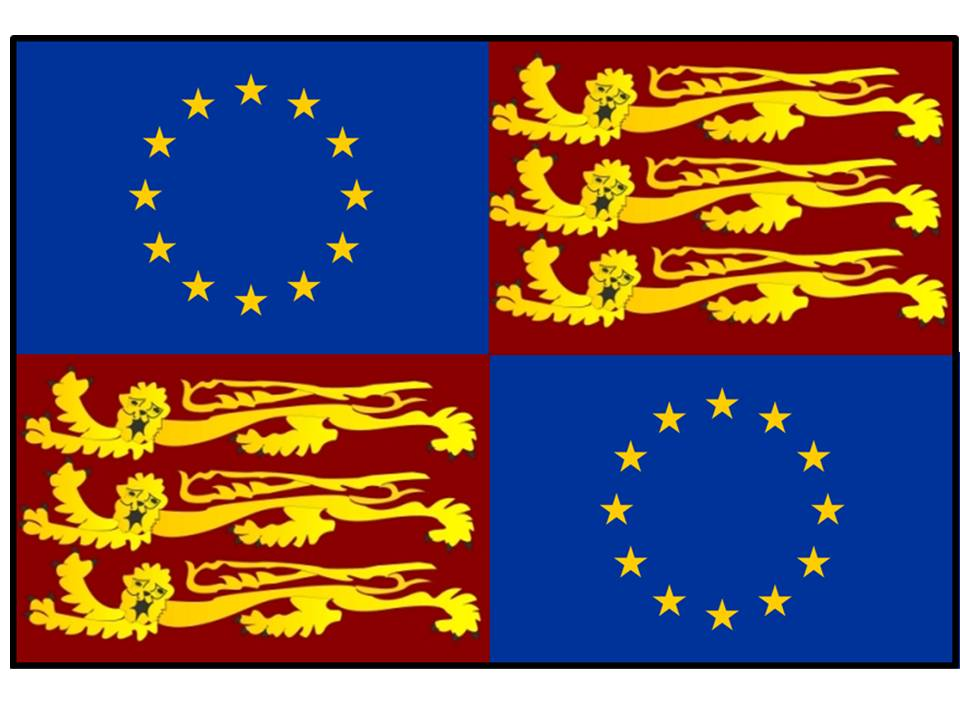 Flag EU and Lion